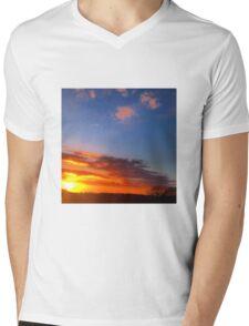 Sky Fire Mens V-Neck T-Shirt