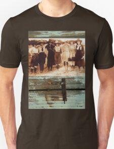 Vintage Cowgirls Photo Rustic Metal T-Shirt