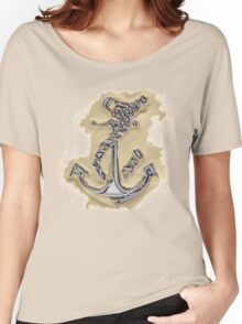 Chrome Anchor in Sand Women's Relaxed Fit T-Shirt