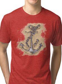 Chrome Anchor in Sand Tri-blend T-Shirt