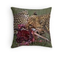 Cheetah's Meal Throw Pillow