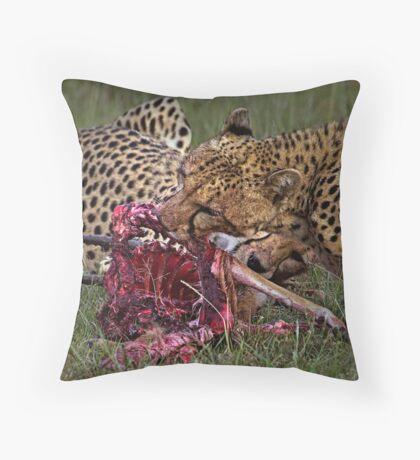 Cheetah's Meal Throw Pillow