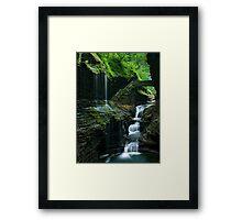 Watkins Glen Falls Framed Print