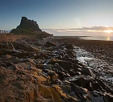 Dawn on Holy Island by Richard Shepherd