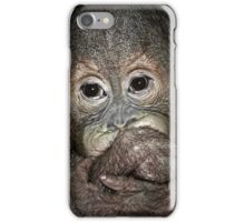Orang Utan Baby Portrait iPhone Case/Skin
