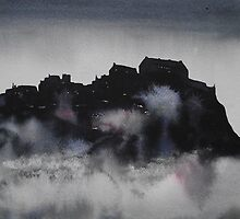Edinburgh Castle Darkness 3 by Ross Macintyre