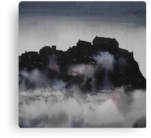 Edinburgh Castle Darkness 3 Canvas Print