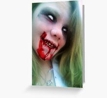 Lauren Of The Living Dead II Greeting Card