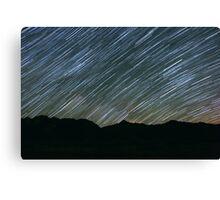 Milky Way Galaxy Star Trail Canvas Print