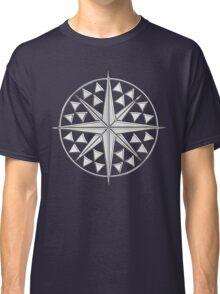 Chrome Style Nautical Compass Star Classic T-Shirt