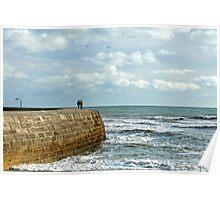 A Walk Along The Cobb ~ Lyme Regis Poster