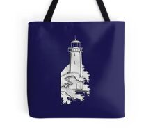 Nautical Chrome Mighty Lighthouse Tote Bag