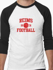 Reims Athletic College Style 2 Gray Men's Baseball ¾ T-Shirt