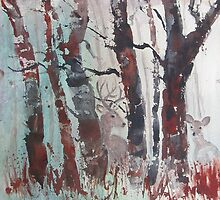 Deer Hiding by Doris Currier