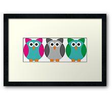 Owls (Pattern #2)  Framed Print