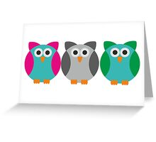 Owls (Pattern #2)  Greeting Card