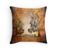 Textured Winter Impression Throw Pillow
