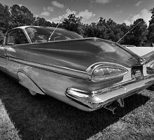 '59 Impala 001 BW by Lance Vaughn