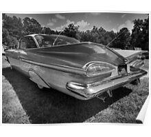 '59 Impala 001 BW Poster