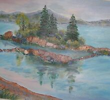 Superior spring  morning Lake Superior Ont.  CANADA 18x24 acrylic on canvas by eoconnor