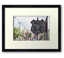 Route 66 Sign Framed Print
