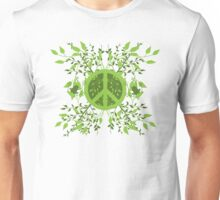 Green Leafy Peace Unisex T-Shirt