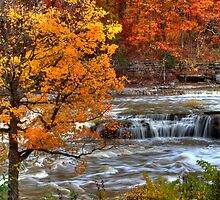 Cataract Falls - Autumn by Jeff VanDyke