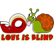 Love is blind Photographic Print