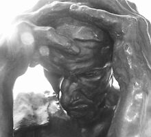 Detail of Burghers of Calais, Rodin by Mechellerene