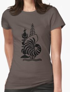 Emblem of New Caledonia  Womens Fitted T-Shirt