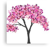 Purple and Pink Tree Canvas Print
