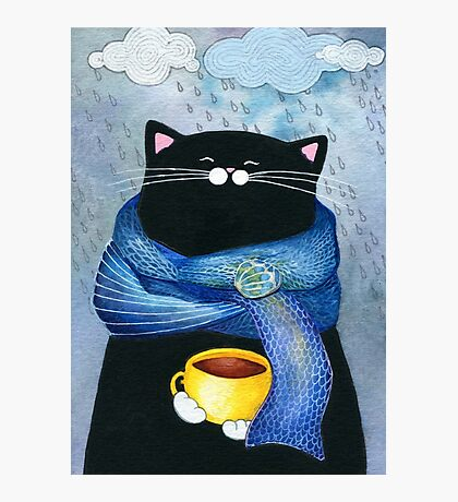 Rainy Day Coffee  Photographic Print