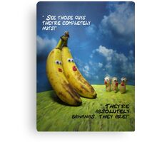 Nuts and bananas Canvas Print