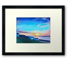 Whitstable Beach Framed Print