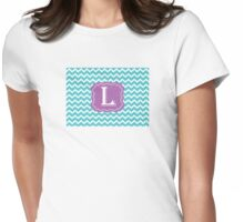 Chevron L Womens Fitted T-Shirt