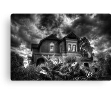 Black and White Vision of the House  Canvas Print