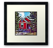 Little Red House Framed Print
