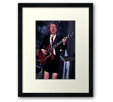 Angus Young AC/DC Framed Print