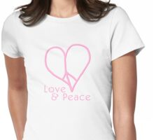 Love and Peace Womens Fitted T-Shirt