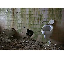 Urinals need a cleaning! Photographic Print