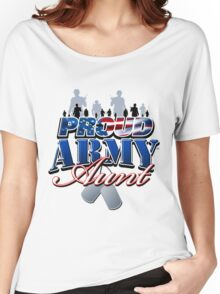 Proud Army Aunt Women's Relaxed Fit T-Shirt