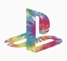 Playstation Logo Tie Dye by Aoloa