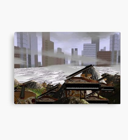 Seige of the artists reclaiming the cities  Canvas Print