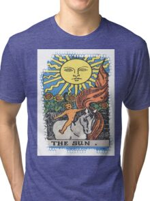 The Sun Tarot Card Tri-blend T-Shirt