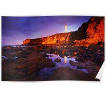 Sunrise on Split Point Lighthouse Poster