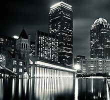 Boston Back Bay Skyline at Night by briburt