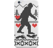 Gone Squatchin For Love Sweater Knitting Style iPhone Case/Skin