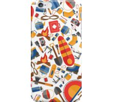 Hiking and tourism equipment iPhone Case/Skin