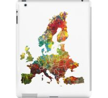 Map of the Europe iPad Case/Skin