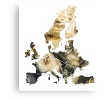 Europe Map brown Canvas Print